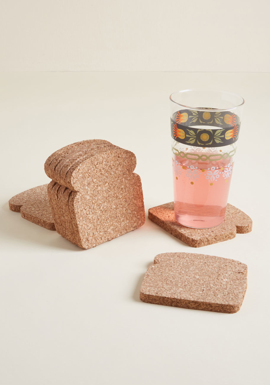 toast coasters are a fun addition to any home